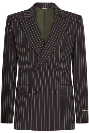 Dolce & Gabbana Men Blazers - Double-breasted pinstripe blazer