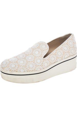 Stella McCartney Crochet And Canvas Platform Slip On Sneakers Size 39