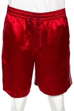 Gucci Silk Blend Print Detail Shorts L
