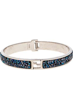 Fendi Sta Blue Crystal Studded Tone Bracelet M