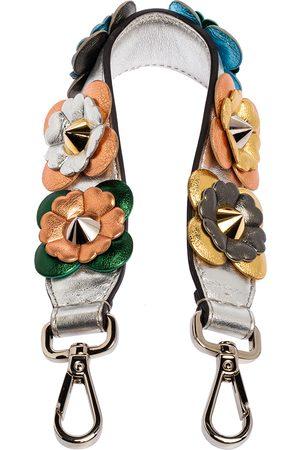 Fendi Floral Applique Leather Mini Strap You Shoulder Bag Strap
