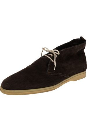 Loro Piana Suede Soft Walk Lace Up Ankle Boots Size 44