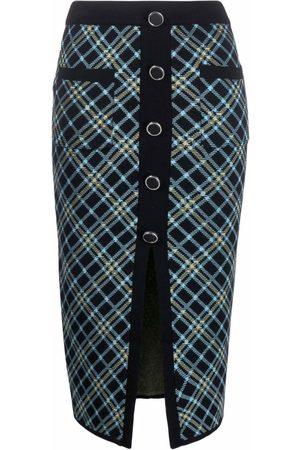 Pinko Women Printed Skirts - Check-pattern knit skirt