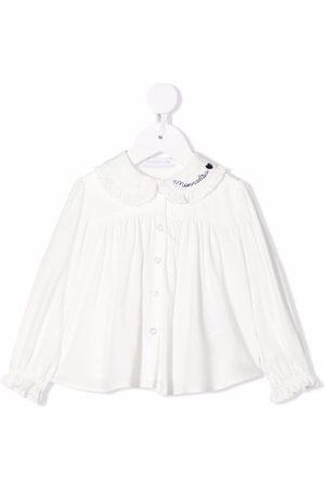 MONNALISA Baby Blouses - Logo-embroidered blouse