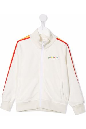 Palm Angels Kids Girls Bomber Jackets - Side-stripe track jacket