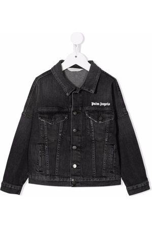 Palm Angels Kids Boys Denim Jackets - Logo-print denim jacket - 1001