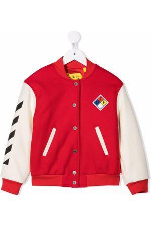 Off-White Kids Logo varsity jacket