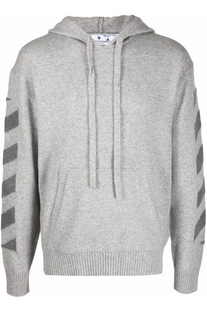 Off-White Arrows-print cashmere hoodie - Grey