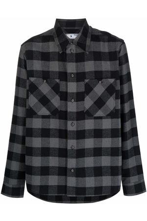 Off-White Plaid flannel shirt - Grey