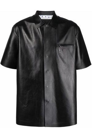 Off-White Short-sleeve leather shirt