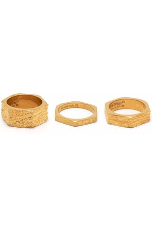 Off-White Textured hexnut ring