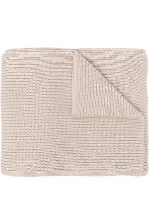 OFF-WHITE Hands Off logo wool scarf - Neutrals