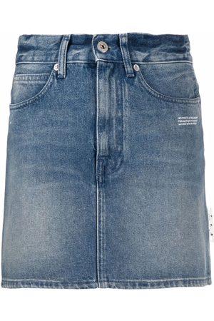 Off-White Women Mini Skirts - Denim mini skirt