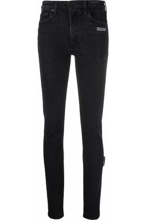 Off-White Women Skinny - Logo-print skinny jeans