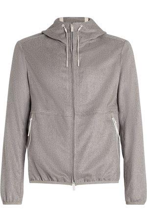 Ermenegildo Zegna Men Hoodies - Zip-fastening hoodie