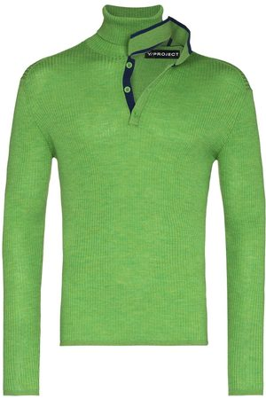 Y/Project Deconstructed roll neck wool jumper