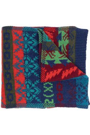 Diesel Aztec-print knitted scarf