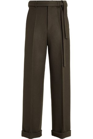 Ermenegildo Zegna Men Wide Leg Pants - Wide-leg wool trousers