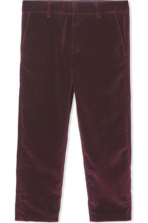 Burberry Boys Formal Pants - Tailored velvet trousers