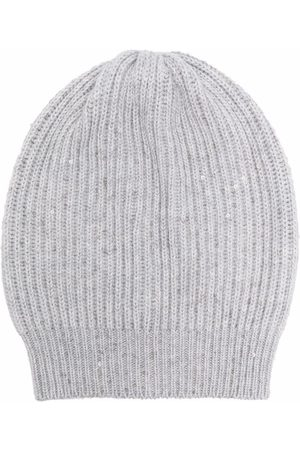 Brunello Cucinelli Cable-knit beanie hat - Grey