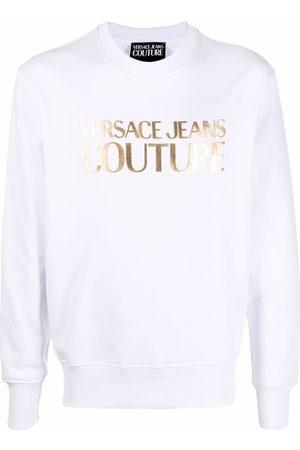VERSACE Metallic effect logo sweatshirt