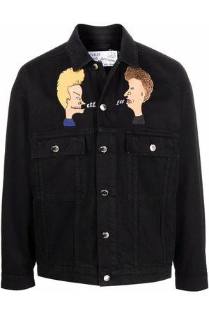 Etudes Men Denim Jackets - Graphic print denim jacket