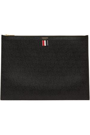 Thom Browne Men Briefcases - Black Large Zip Laptop Holder