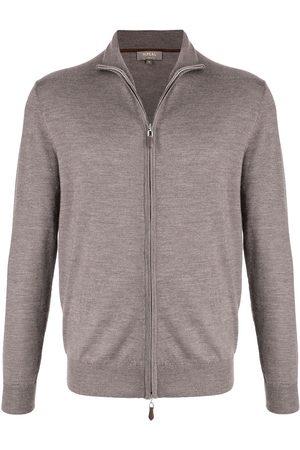 N.PEAL Men Sweatshirts - The Hyde fine knit jumper - Grey