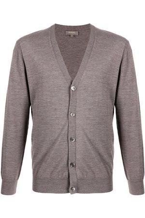 N.Peal Men Cardigans - Fine knit cardigan - Grey