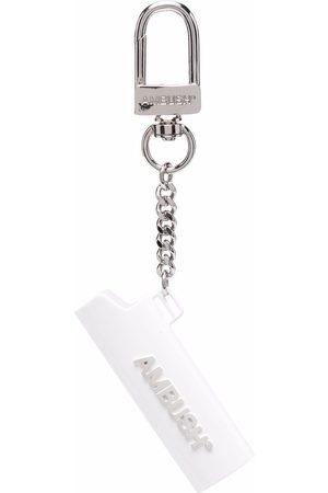 AMBUSH Logo-lettering lighter case keychain