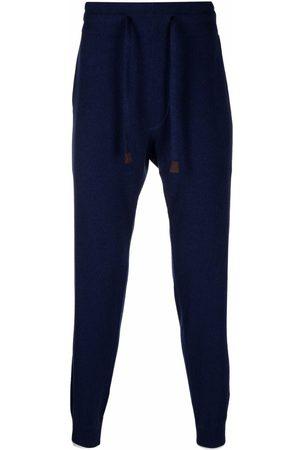 FEDELI Drawstring-waist cashmere track pants