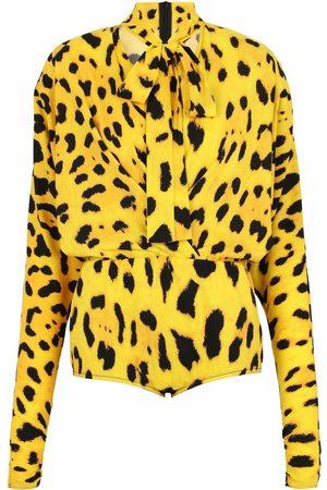 Dolce & Gabbana Leopard-print bodysuit