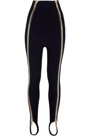 Dolce & Gabbana High-waisted zip-detail leggings