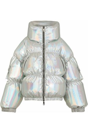 Dolce & Gabbana Holographic-effect padded jacket