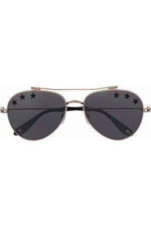 Givenchy Eyewear Men Aviators - Star print tinted aviator sunglasses