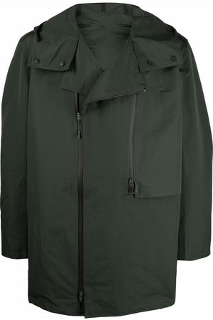 Y-3 Men Parkas - Zipped hooded parka