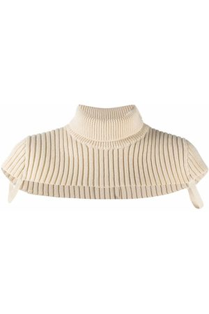 Maison Margiela Women Scarves - Roll-neck wool scarf - Neutrals