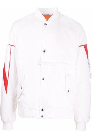 VALENTINO Men Bomber Jackets - VLTN print bomber jacket