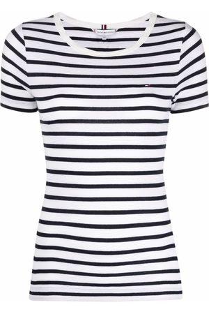 Tommy Hilfiger Women Short Sleeve - Striped short-sleeve T-shirt