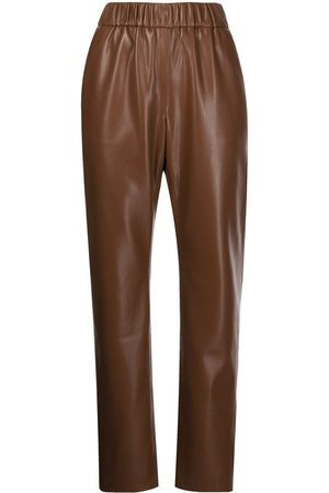 ANINE BING Women Leather Pants - Colton faux leather trousers
