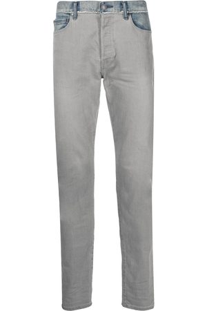 John Elliott Men Straight - The Cast two-tone straight jeans - Grey