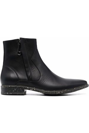 Off-White Men Ankle Boots - Paperclip panelled ankle boots