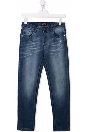 LES HOMMES KIDS TEEN straight-leg jeans