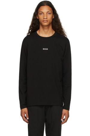 HUGO BOSS Men Long Sleeve - Black Logo Long Sleeve T-Shirt