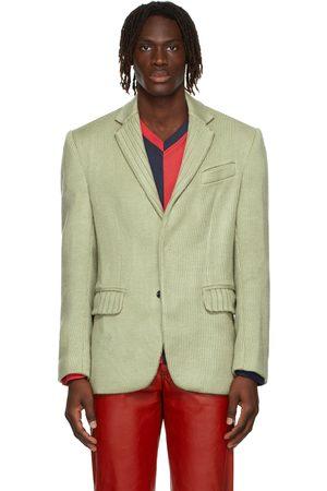Situationist Green Knit Blazer