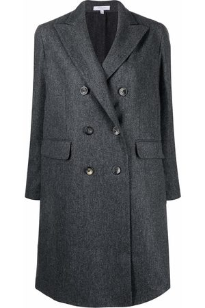 Boglioli Fitted double-breasted coat - Grey