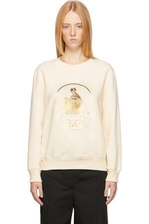 Lanvin Girls Sweatshirts - Off-White & Gold Mother & Child Sweatshirt