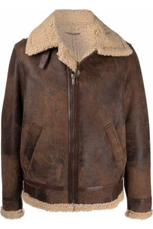 Golden Goose Men Leather Jackets - Leather shearling coat
