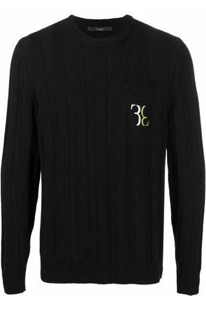Billionaire Men Sweatshirts - Embroidered-logo wool jumper