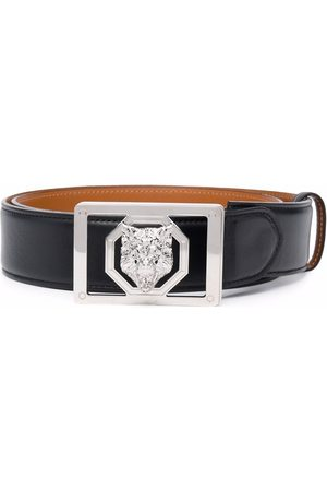 Billionaire Men Belts - Wolf-motif leather belt